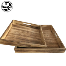 Wood Serving Tray Wooden Breakfast Tea Serving Bed Tray With Handles