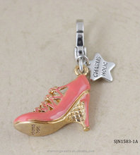 beautiful key chain girls high-heeled shoes necklace pendant
