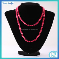 2016 the 8 mm Red turquoise beads Necklace for the women