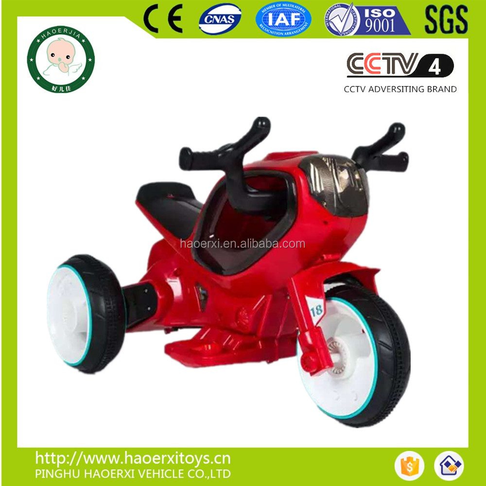2016 Hot model export kid battery operated motorbike with music and working LED light