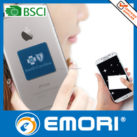 Custom microfiber adhesive mobile phone sticky screen cleaner