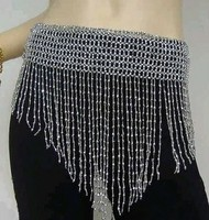 2014 New belly dance beaded belts for ladies'dress