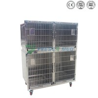 YSVET1220 keeping small and medium sized animals stainless steel cage