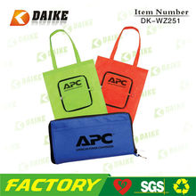 Cheap Eco Foldable Non Woven Shopping Bag With Zip Pocket DK-WZ251
