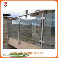glass staircase,stainless steel outdoor glass staircase,glass clamp staircase