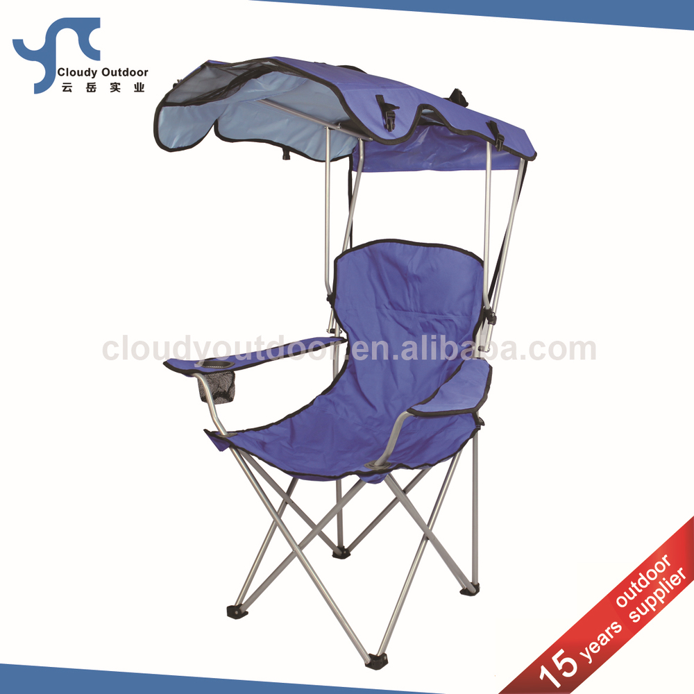 foldable beach sunshade folding camping chair with canopy buy foldable beach sunshade folding. Black Bedroom Furniture Sets. Home Design Ideas