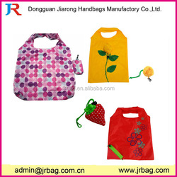Wholesale colorful foldable shopping bag/folding market bag for packing