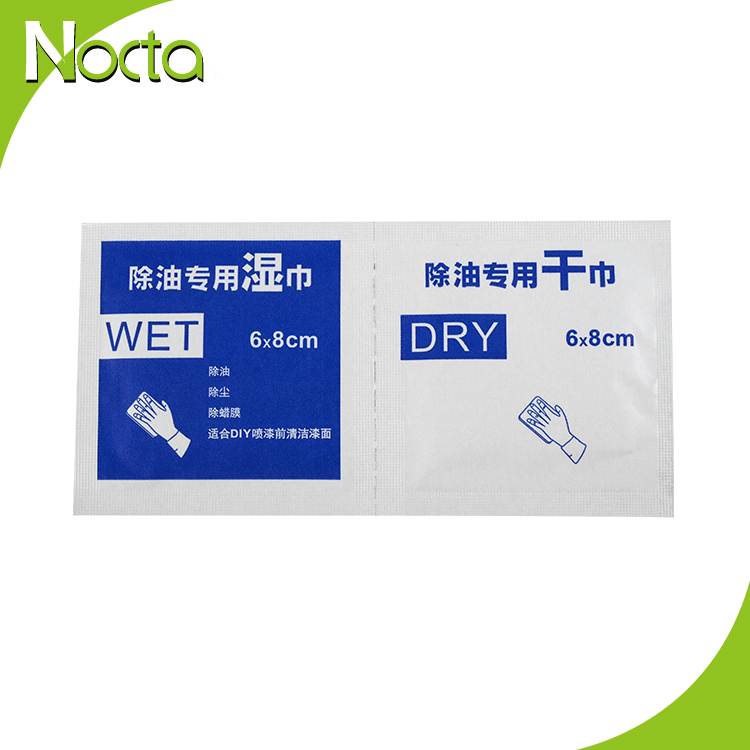 Hot sales dry & wet remove oil cleaning wipes for screen tempered