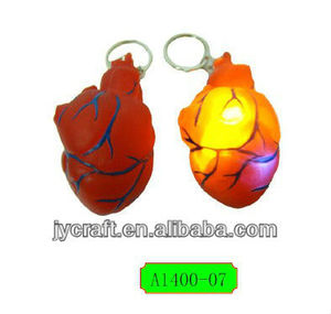 Human Anatomical heart shape model artificial keychain