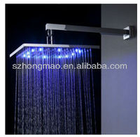 "Luxury 12"" chrome square LED shower head with water saving"