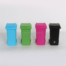 Desktop mini plastic trash can pen holder