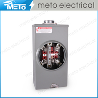 Dual 3 phase 7 jaw 200a rectangle ringless electric meter socket/meter base/meter base socket parts