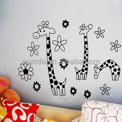 Baby bedroom giraffe decorative wall sticker home decor