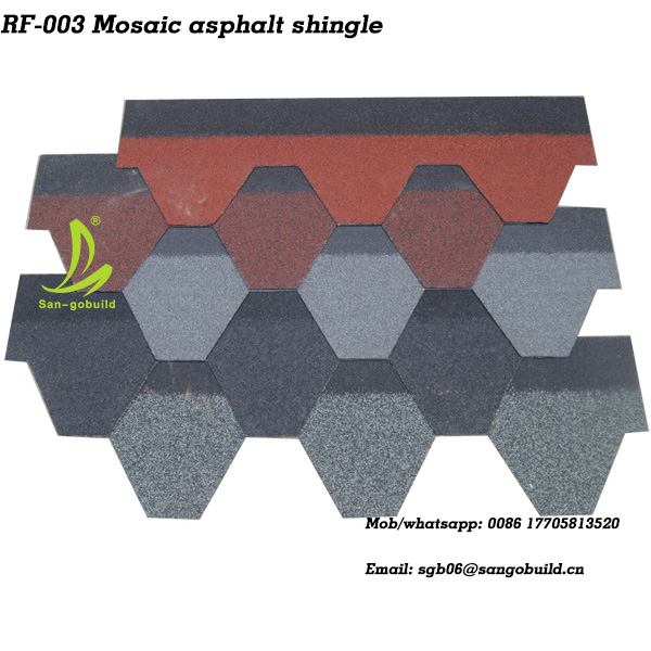 High Quality Factory Price Hexagon asphalt roofing shingle