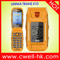 UNIWA TRANS X10 4800mAh Power Bank Function Electric Torch Flip Style 1.77 inch and 2.8 inch Dual Screen Mobile Phone