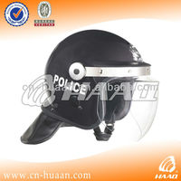 black ABS anti riot helmet with visor face guard for government tender
