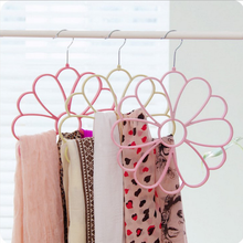 Multifunctional circle scarf rack flocking non-slip tie storage rack
