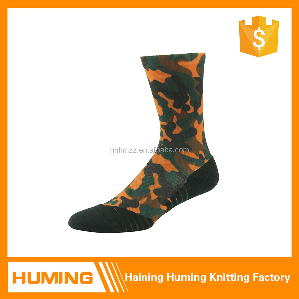 camouflage style custom seamless athletic socks