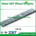 adhesive steel wheel balance weights with zn plated