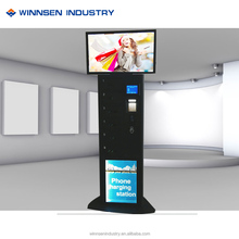 Make Money Vending Machine! Advertising fingerprint operated card phone charge locker with finger print APC-06A