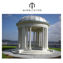Stunning Large Marble Garden Gazebo with domed and columns