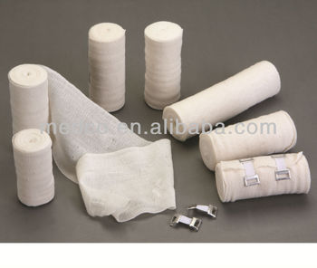 MK-C-6 High Quality Bleached Tabby Thick PBT Bandage Surgical First Aid Medical Bandage Elastic Crepe Bandage