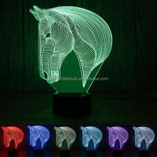 FS-3213 The new entertainment 3D lamp LED colorful atmosphere remote vision stereo lamp custom acrylic lamp