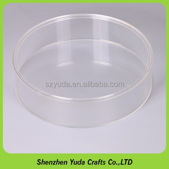 Customized size acrylic tube with cover plastic hollow rod clear storage tube