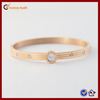 Gold Plate Engraved Stainless Steel Bangle