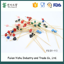 Factory wholesale Bamboo Flower Skewers/ Bamboo Flower Sticks with custom logo