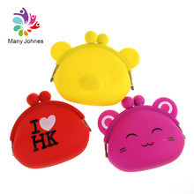 Eco-Friendly Non Toxic Cartoon Cute Silicone Coin Wallet For Children