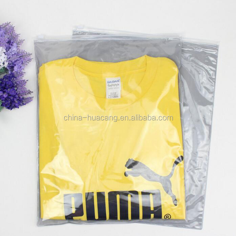 Economic biodegradable plastic clean bag packaging pvc clothes storage bags zipper in stock