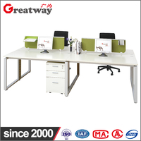 fashion design 4 seat office workstation cubicle partitions office furniture desk
