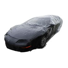 LL Size Clear Plastic Temporary Disposable Car SUV Cover Rain Dust Snow Garage