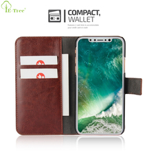 Luxury Designer Flip PU Leather Standing Wallet Phone Case For iPhone X With 2 Card Holder Slots