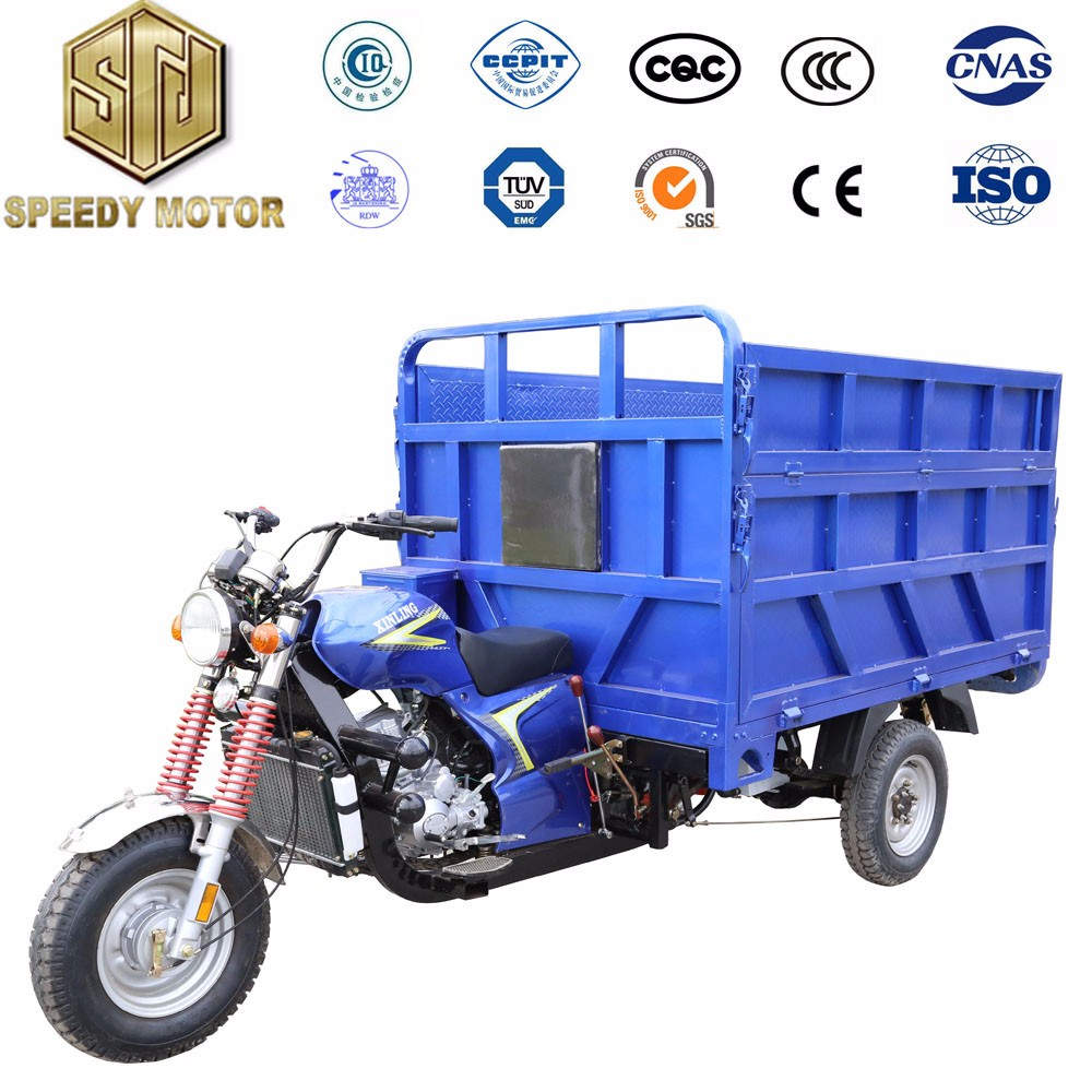 5 hole rear axle type garbage truck tricycle gasoline cargo tricycle