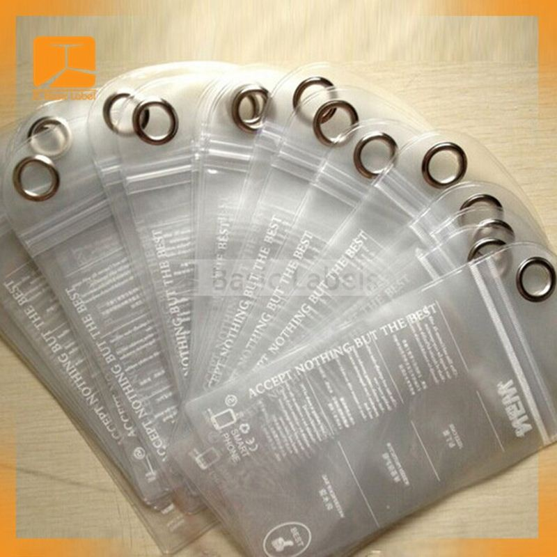 eco-friendly PP/PET/PVC printed clear plastic garment/clothing hang tag,labels and tags,plastic valve bags
