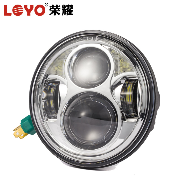 "Real Factory Wholesale 40W 5.75"" harley led headlights 5 3/4 inch 5.75 inch round motorcycle led headlight for harley davidson"
