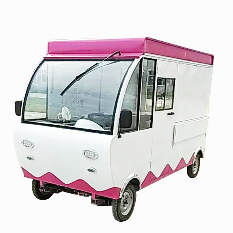 Ice cream shop interior design mobile snack cart snack vehicle
