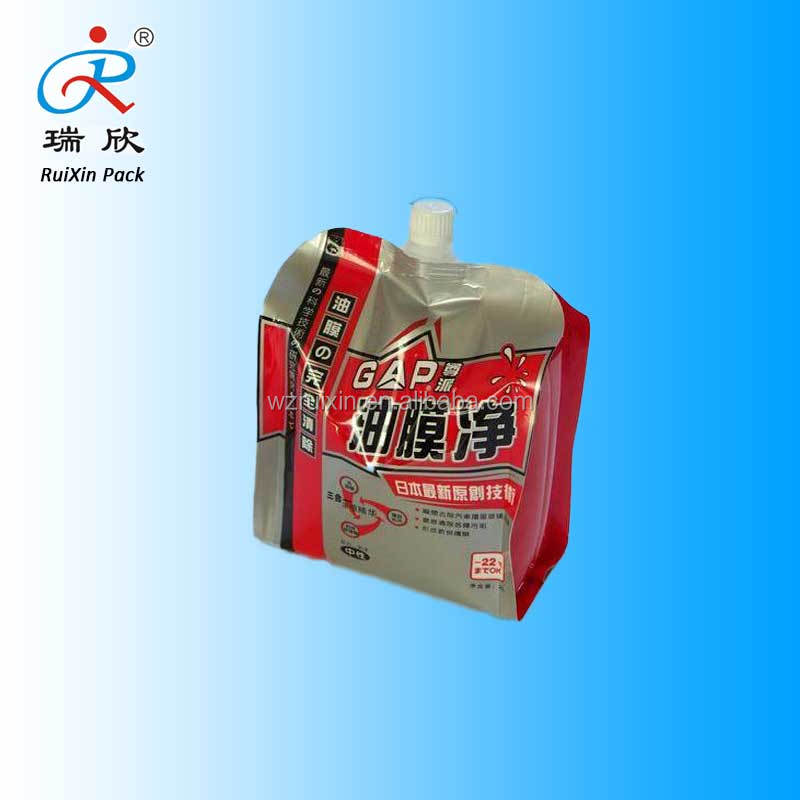 commodity packaging aluminum foil Pouch with spout bag for hair dye