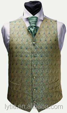 Hot selling work vest fashion wedding waistcoat men