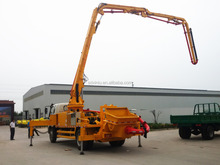 truck mounted concrete mixer pump 28m with cummins engine