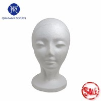 On sale in Christmas female foam heads mannequin