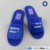 Luxury Velour Hotel Slippers, Open Toe, Blue Color