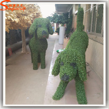 Alibaba trade assurance grass topiary different artificial dog animal hot sale