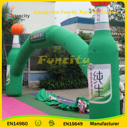 Customization 0.6mm Thickness PVC Tarpaulin Advertising Inflatable Arch, Inflatable Entrance Finish Line for Sale
