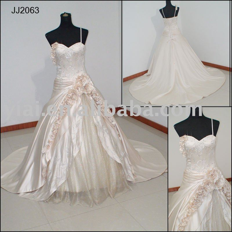 JJ2063 2010 Luxury sexy emrboidery bridal dress