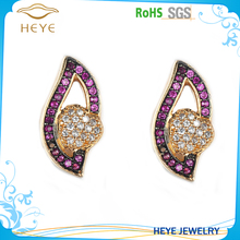 Top quality high end fashion 18K gold earring jewelry