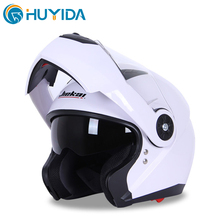 JK115 double lens flip up facelife helmet for motorbike top grade ABS material M/L/XL/XXL size motorbike helmet