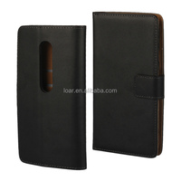 Black For Motorola Moto G3 G 3rd Gen Genuine Leather Flip Smooth Case
